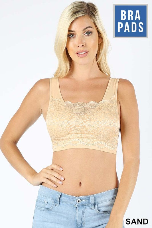 Cleavage Control Bralette (Sand)