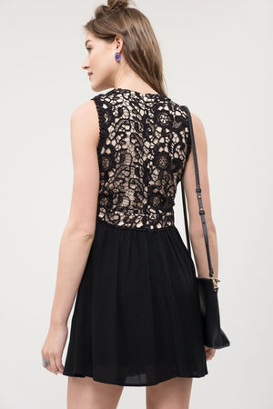 Halter Neck Lace Dress
