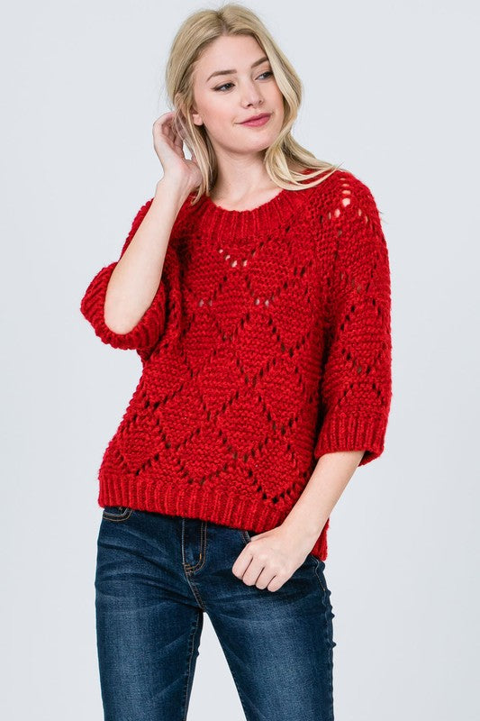 Knit Eyelet Sweater