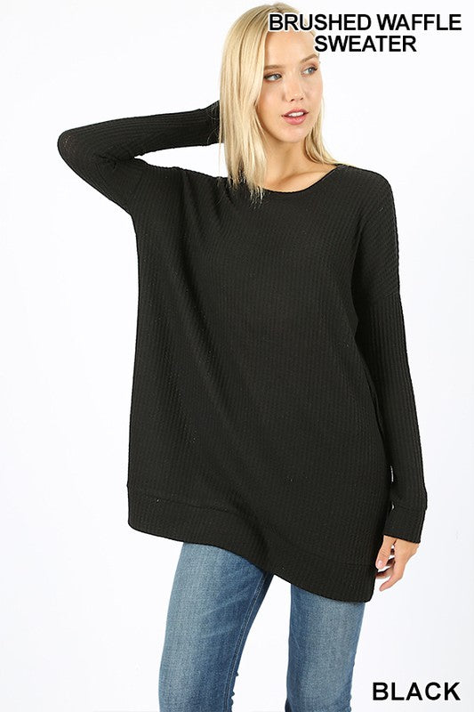 Brushed Thermal Sweater (Black)