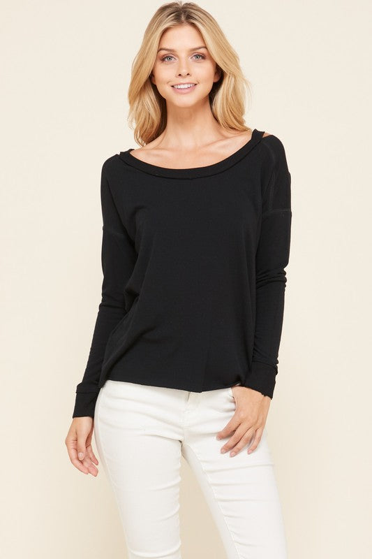 French Terry Top (Black)