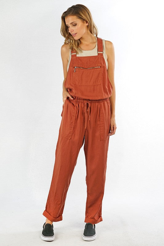 Tencel Overalls (Saddle)
