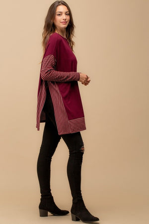 Oversized Cape (Burgundy)
