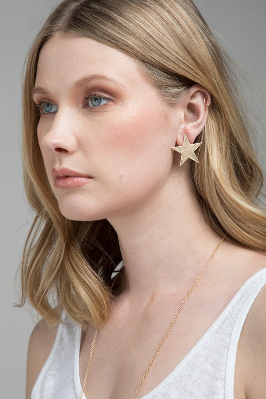 Star Stud Earrings (Gold)