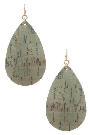 Cork Earrings (Olive)