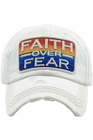 Faith Over Fear Hat (White)