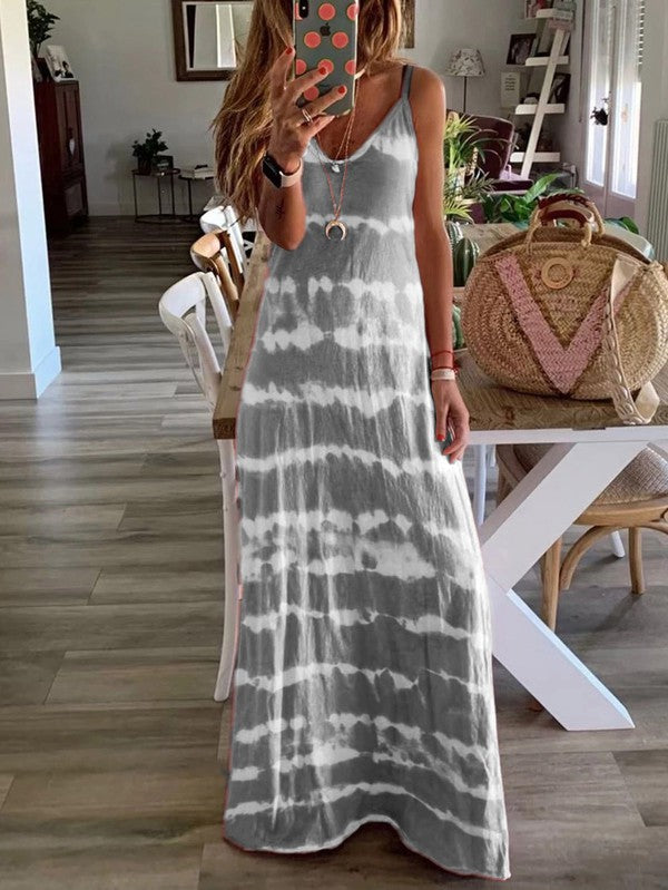 Tie-Dye Dress (Grey)