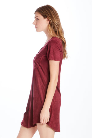 Another Love Cassidy Suede Dress (Burgundy)