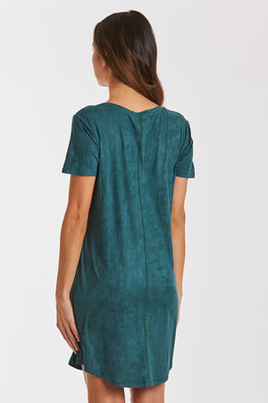 Another Love Cassidy Suede Dress (Emerald)
