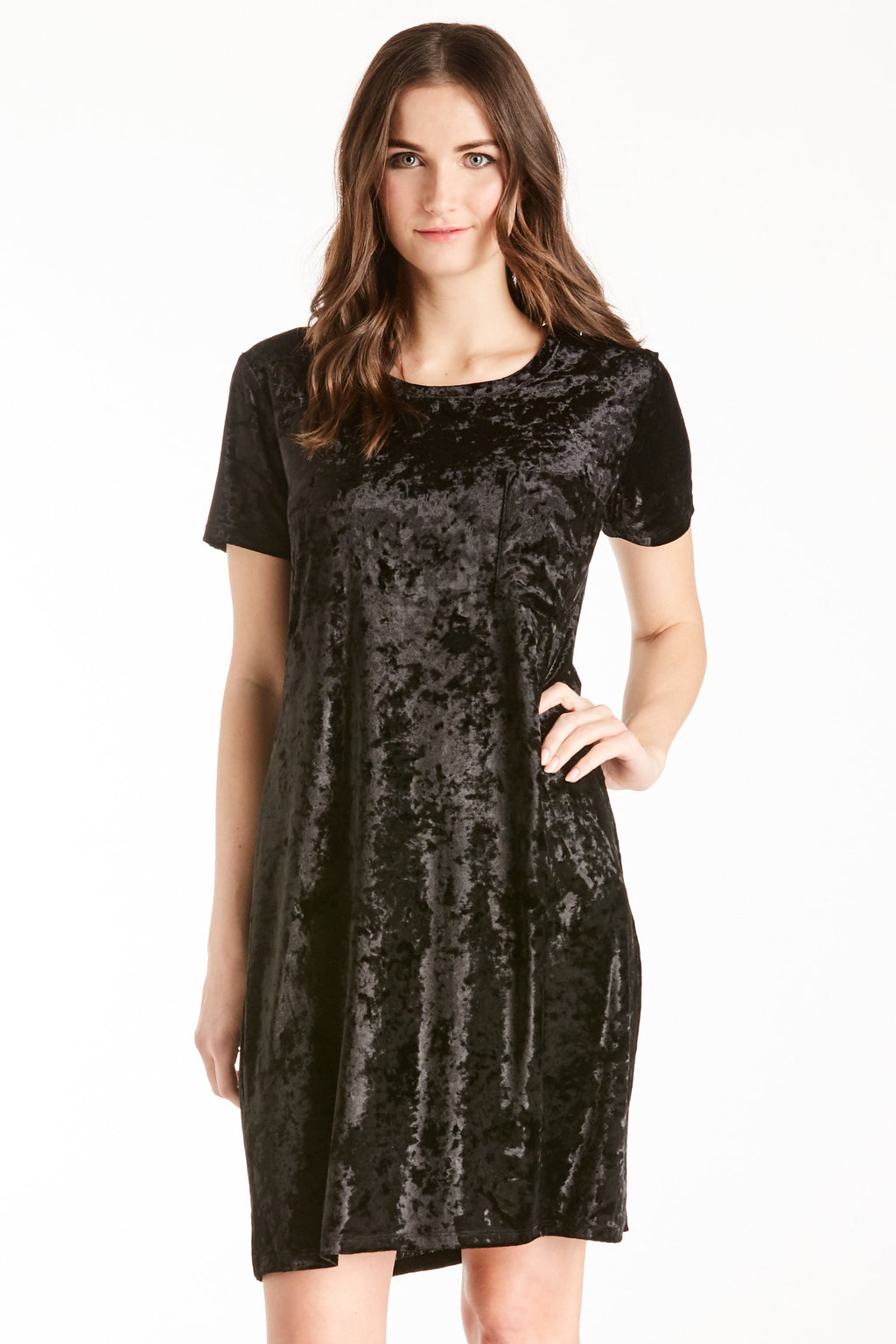 Another Love Alex Velvet Dress (Black)