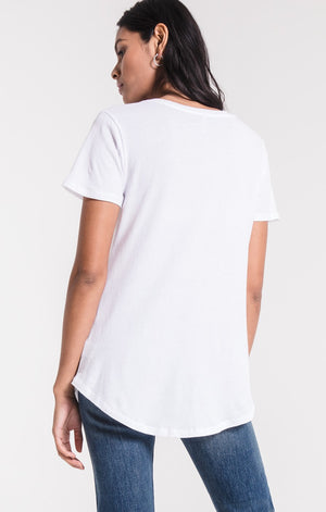 The Washed Cotton Pocket Tee (White)