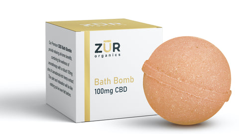 Zur Organics Bath Bomb Fizzy 100mg CBD - Sweet Orange