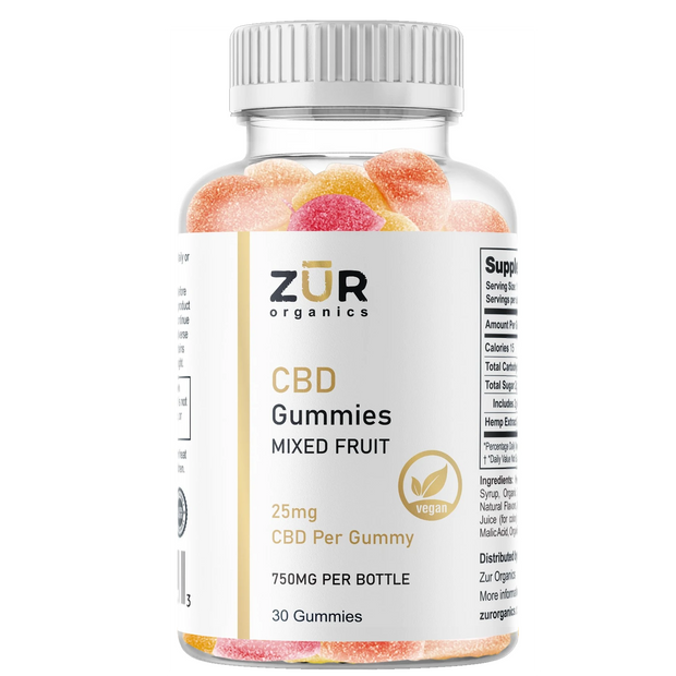 Zur Organics 25mg Fruit Gummies - 30 count