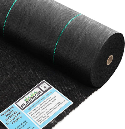 Woven Geotextile Black Weed Barrier Fabric 4X250 ft, 5oz/170 gsm