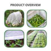 Floating Row Cover - 10x50ft, Plants Against Harsh Weather, 19 gsm/0.55oz