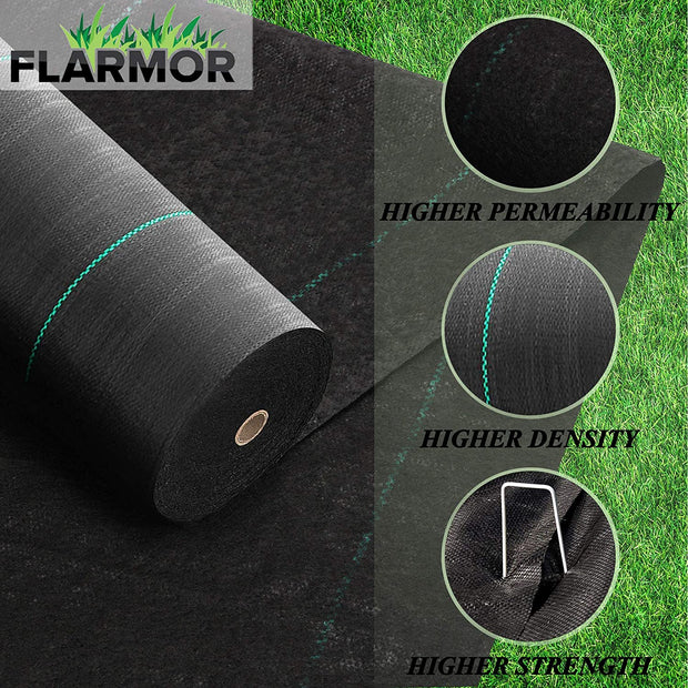 Woven Geotextile Black Weed Barrier Fabric 4X100 ft, 5oz/170 gsm