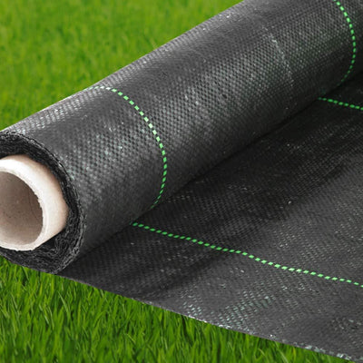 140 gsm Woven Geotextile Black Weed Barrier Fabric 4X250 ft, 4.1 oz