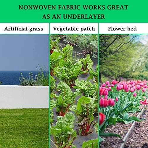 Landscape Weed Barrier Fabric Heavy Duty Roll 4x300 ft, 3.0 oz/100 gsm