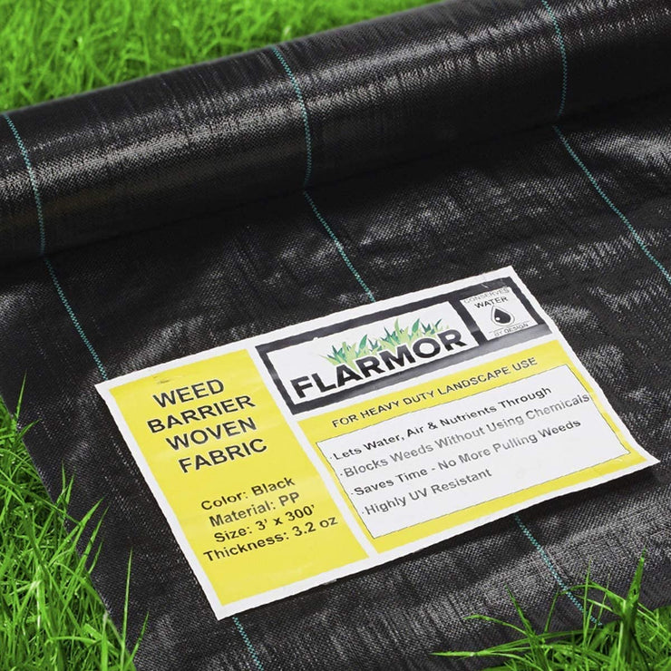 Woven Landscape Fabric Heavy Duty 4Ft x 300Ft, 3.2oz/108 gsm