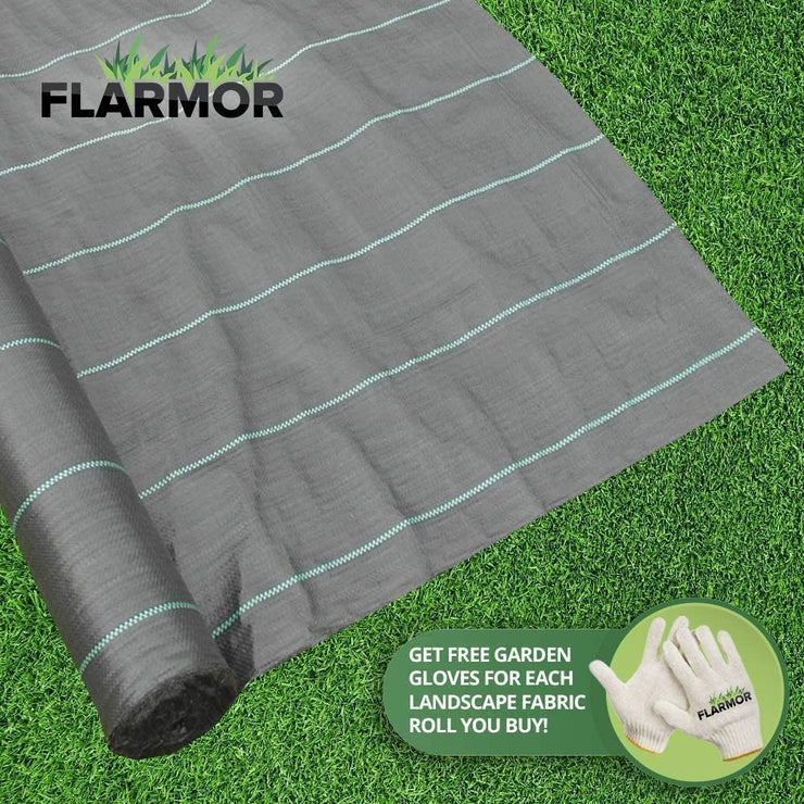 Woven Geotextile Black Weed Barrier Fabric 4X100 ft, 4.1 oz /140 gsm