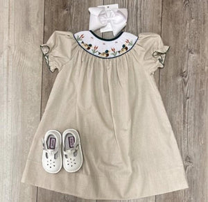 LB Mallard Smocked Bishop Dress