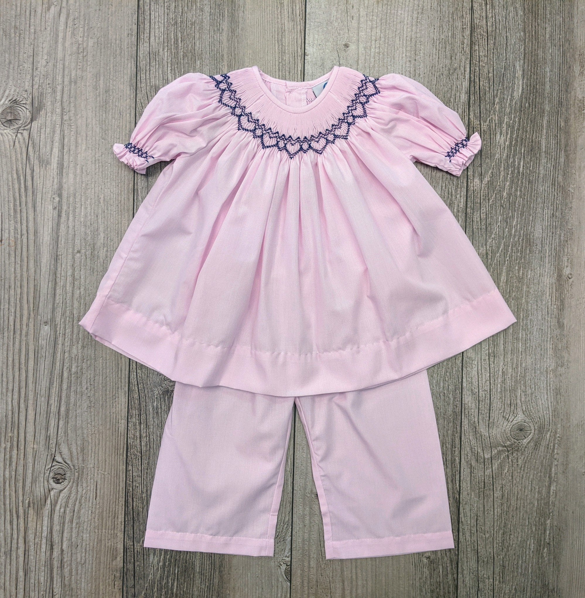 LS Countryside Smocked Pant Set