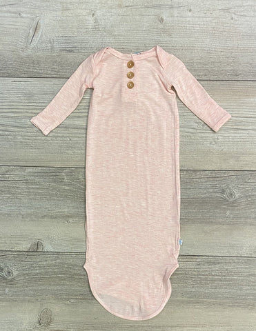 PP Knotted Gown Heathered Pink