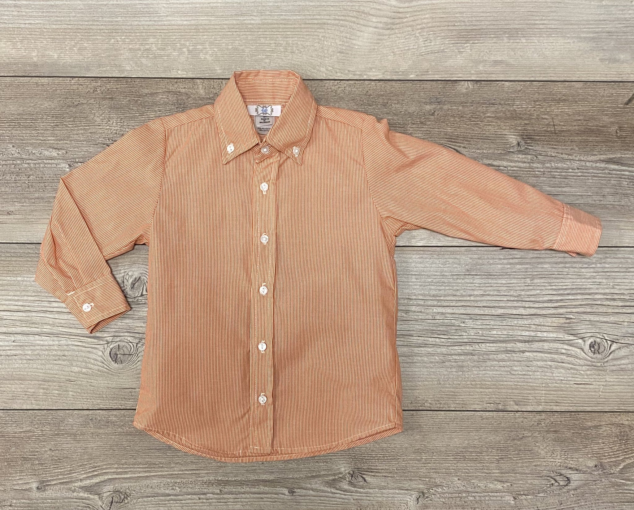 LB Orange Pinstripe Button Down