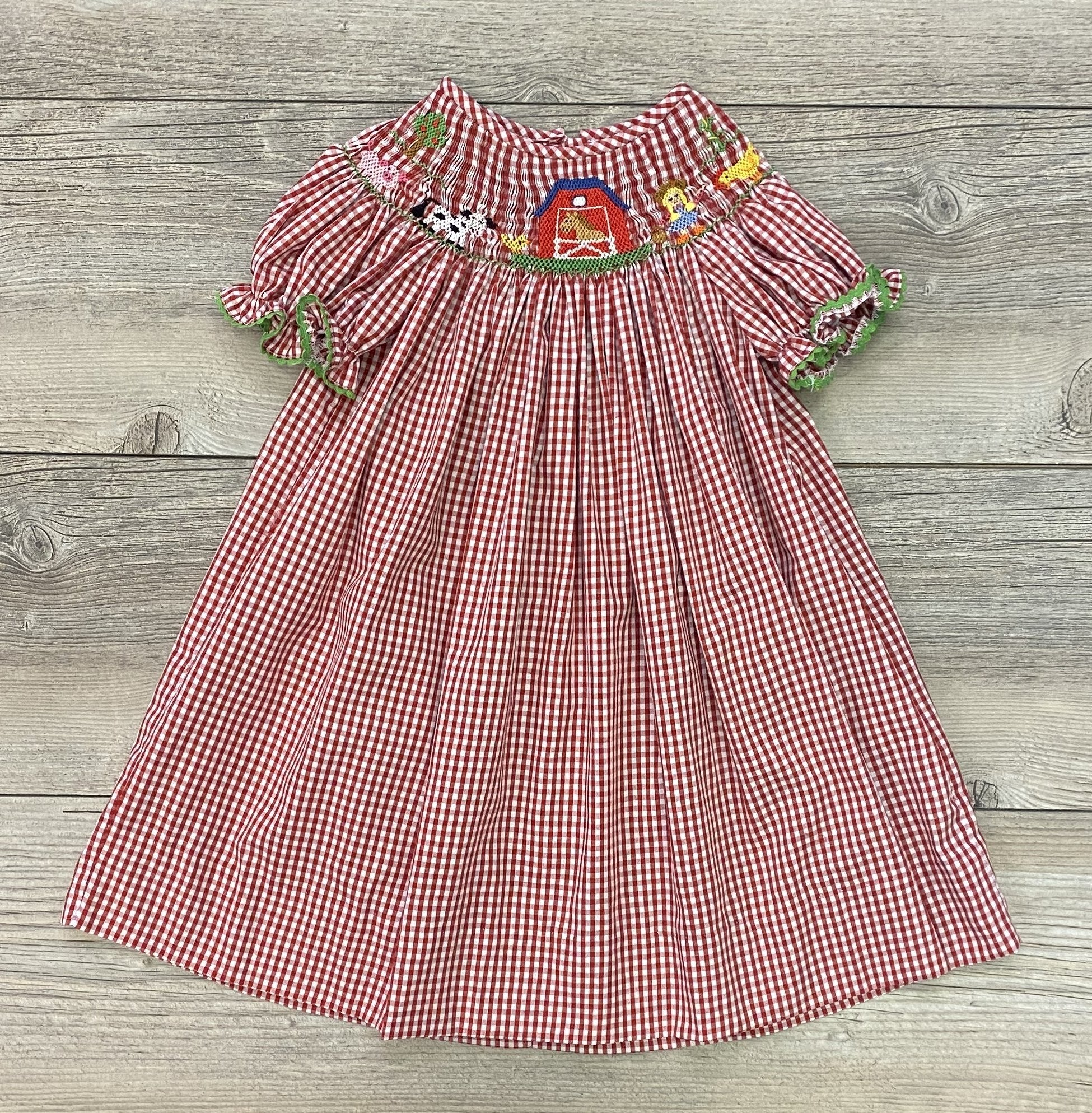 Anavini Farm  Smocked Bishop Dress