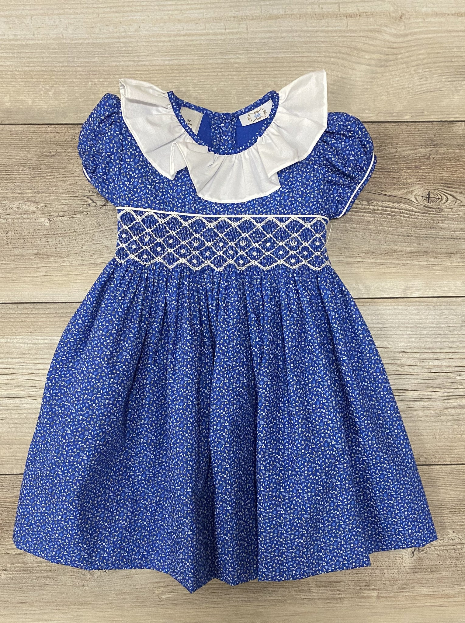 LB Ruffle Collared Smock Dress