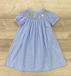Anavini Hey Diddle Diddle Smocked Bishop Dress