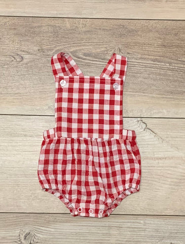 TS Red Gingham Bubble