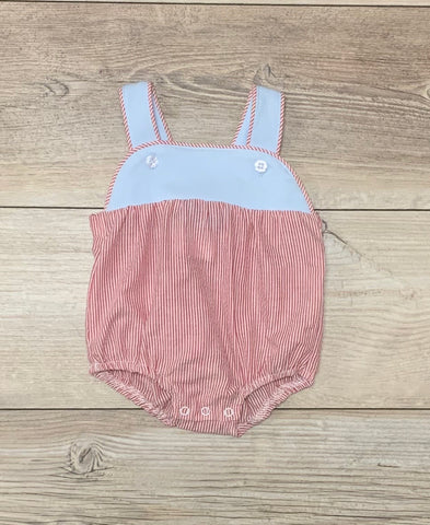 TS Red Stripe/Blue Seer Sunsuit