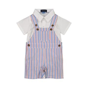 AE 3 Piece Striped Overall Set