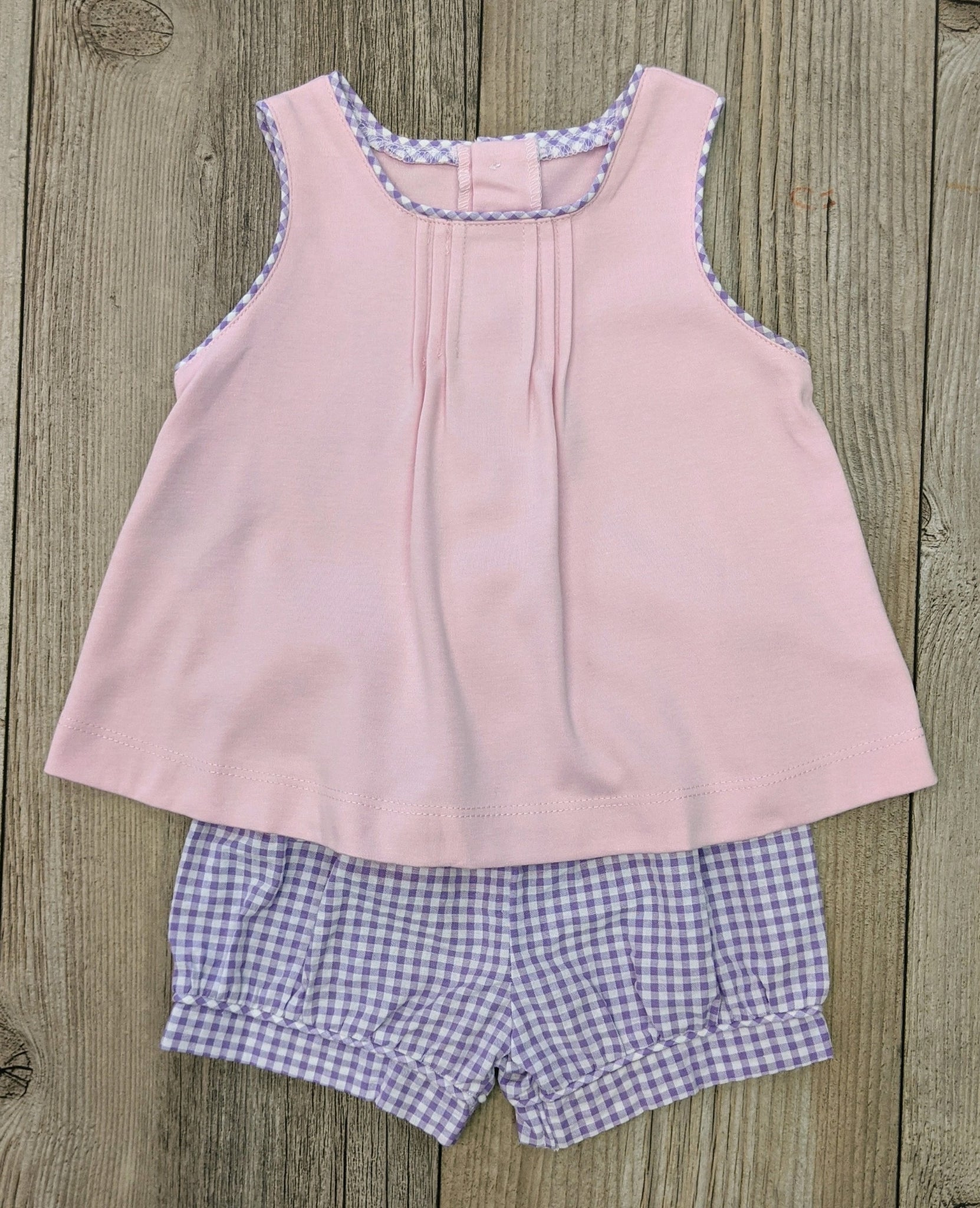 LS Seersucker Short Set Lavender