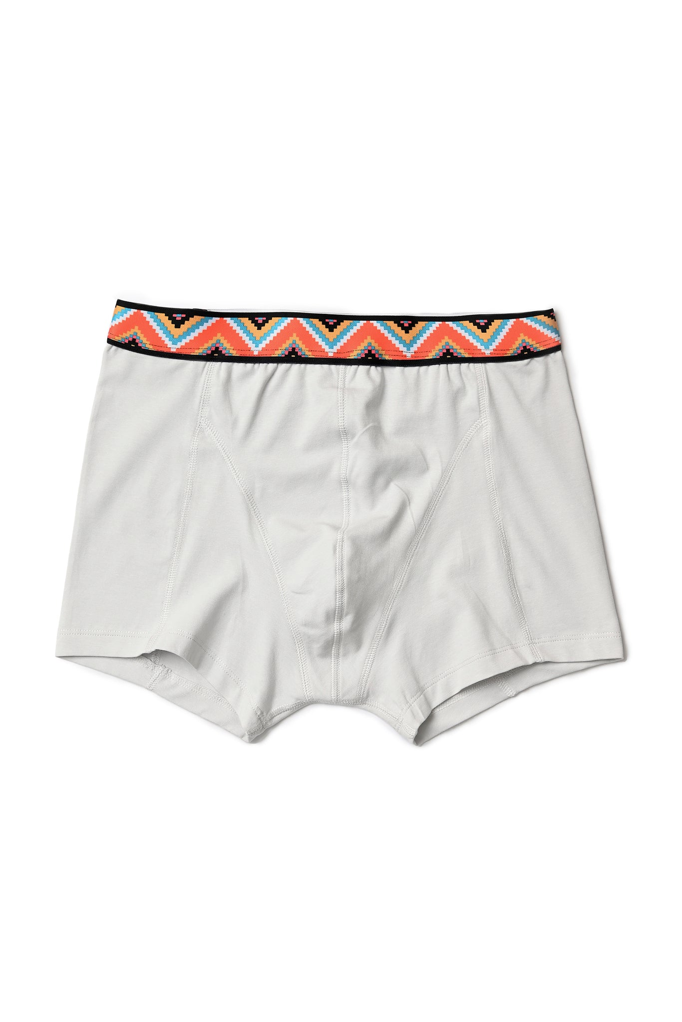 Boxer briefs with printed waistband