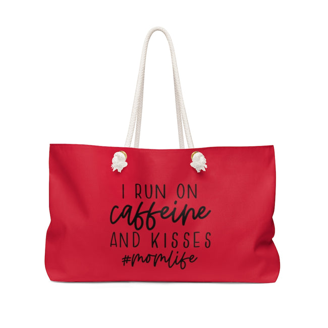 Run on Caffeine and Kisses Weekender Bag