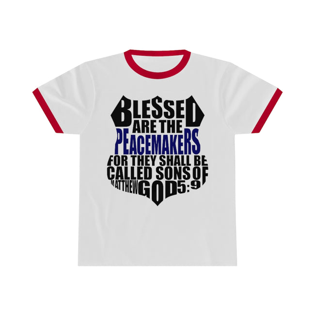 Blessed Badge Unisex Ringer Tee w/Logo on Chest - MY TEE USA