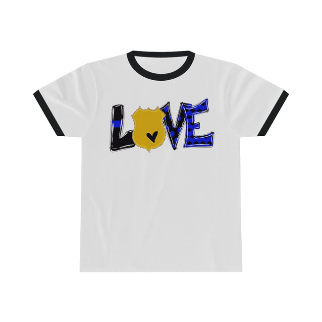 Love the Police Ringer Tee w/Logo on Chest