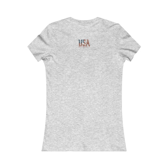 USA Love It Women's Favorite Tee w/Logo on Heart and Back Label