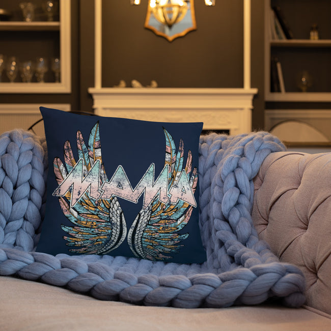 Mamas Wings Home Throw Pillows  w/3 Sizes for Your Homes Decor