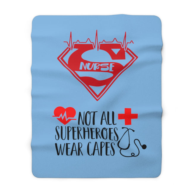 "Super Nurse 60"" x 80"" Sherpa Fleece Blanket"