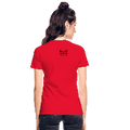 =Thou Shall Not Try Me Mom Gildan Ultra Cotton Ladies T-Shirt w/Logo on Chest and Back Label