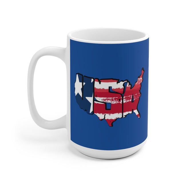 USA Map 150z Ceramic Mug