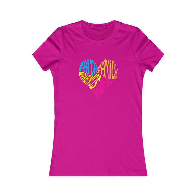 Nurses Heart Women's Favorite Tee,  w/logo on chest - MY TEE USA