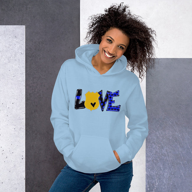LOVE Unisex Hoodie w/Logo on Chest and Back Label - MY TEE USA
