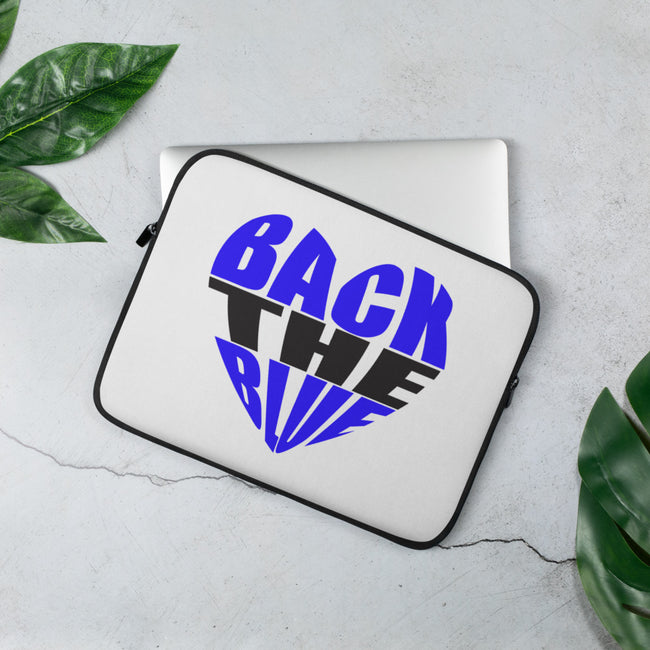Back the Blue Heart Laptop Sleeve - MY TEE USA
