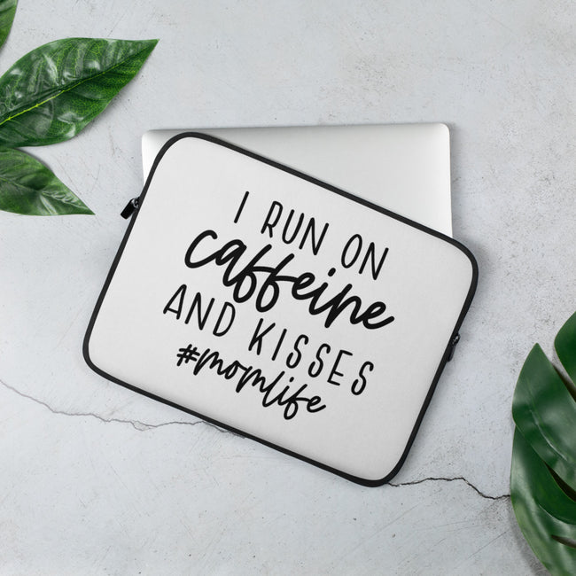 Run on Caffeine and Kisses Laptop Sleeve - MY TEE USA