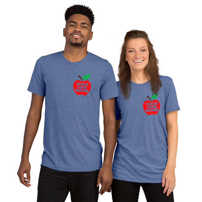 Teach Love Inspire Unisex Short Sleeve T-shirt w/Logo on Heart and Back Tag... See Below for Details - MY TEE USA