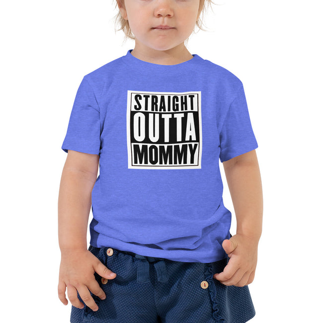 -Straight Outta Mommy 2 to 5T Toddler Short Sleeve Tee - MY TEE USA